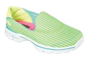Skechers Performance Footwear Women's Go Walk 3 Walking Shoe green side