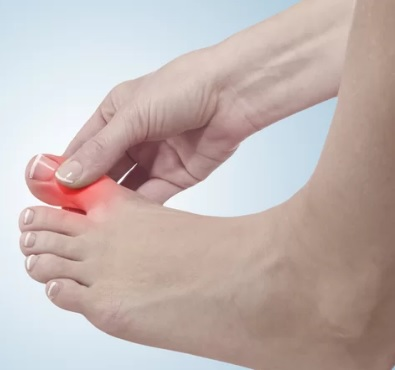 foot with pain