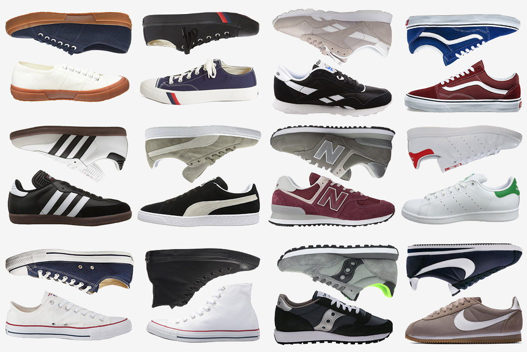 mixed brand sneakers
