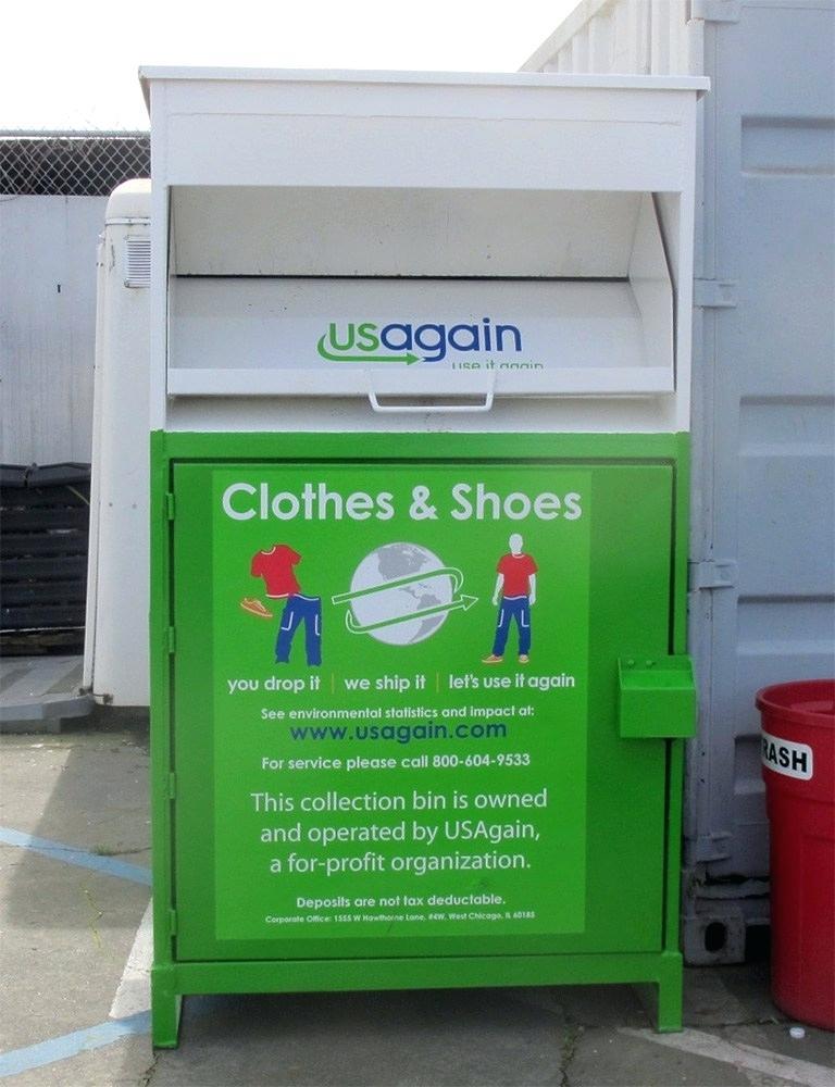shoe recycling bin