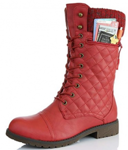 daily shoes red pu boot