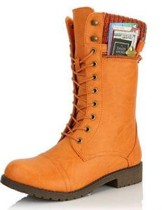 dailyshoes orange boot