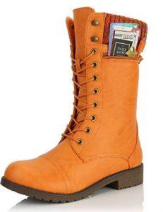 dailyshoes orange boot