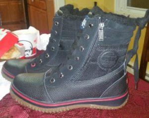 pajar boots pair black