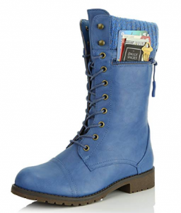 daily shoes blue military boot