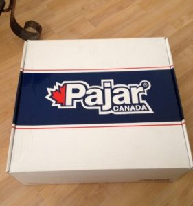 pajar boots on the box