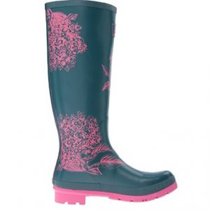 side view women's rain boots