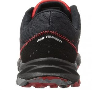 black running shoe back side