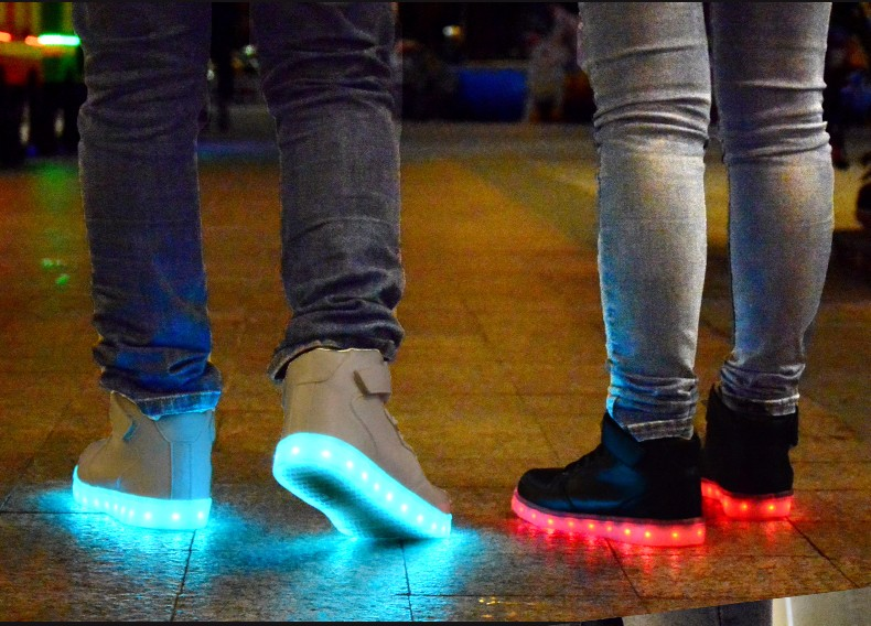 led light up remote control kids shoes usb