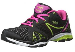 ryka vida black pink lime shoe