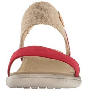 ecco red damara sandal front