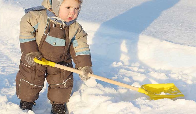 baby shovel snow