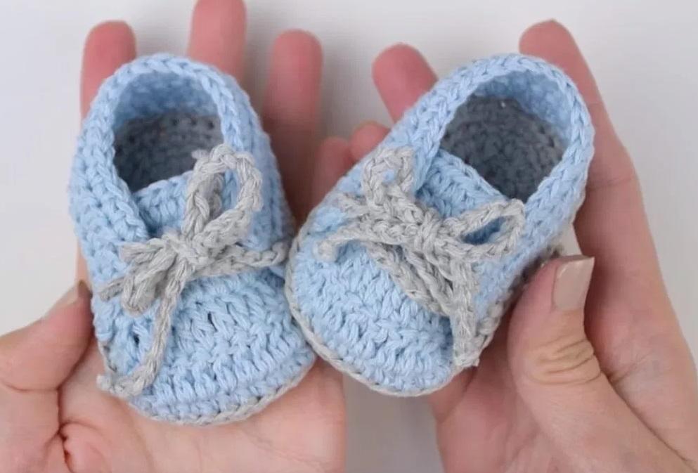 tiny blue booties