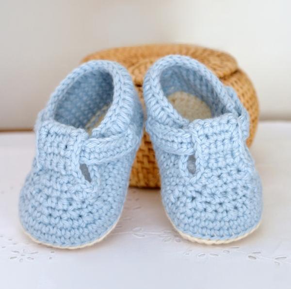 blue crib shoes