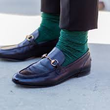 socks and loafer