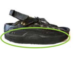 heel flare sandals