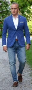 blazer and loafer
