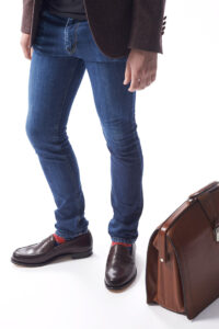 jeans and loafer