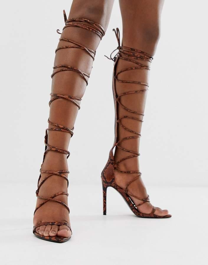 gladiator long sandals