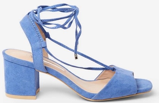 blue sandals mules