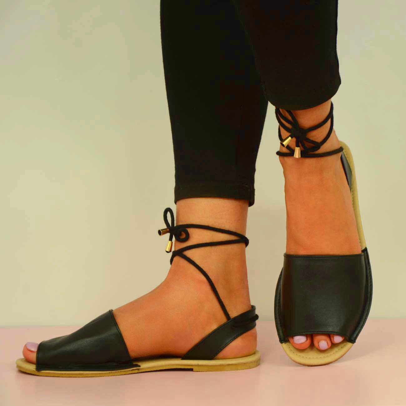flat peep toe sandall