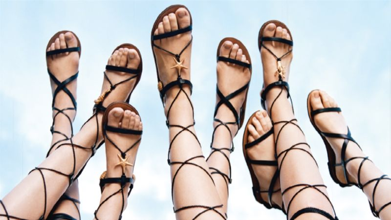 lots of sandals