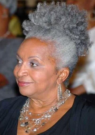black woman grey hair