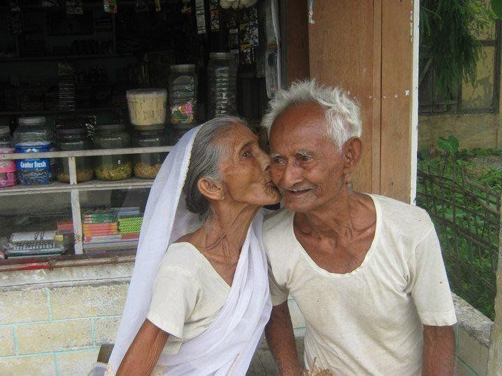 cute old indian couple