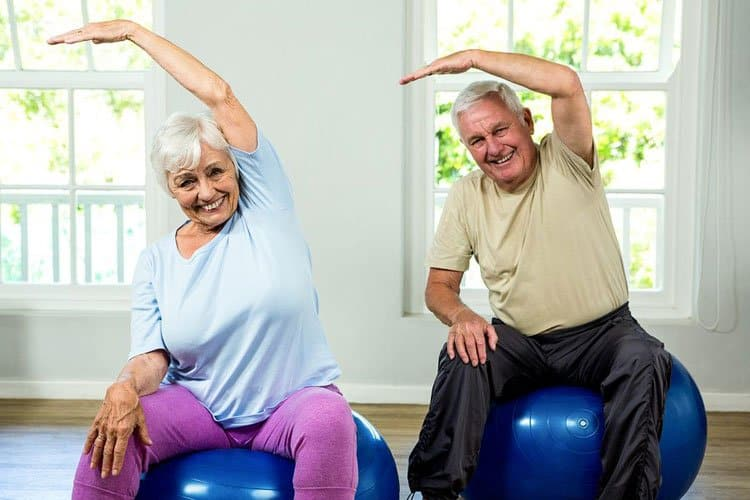 seated side bends seniors